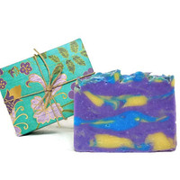 Freesia Soap, Handmade Soap, Cold Process Vegan Soap, Gift under 10