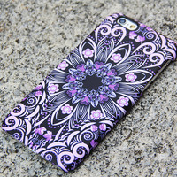 Native Purple Floral iPhone 6 iPhone 6 plus Case Flowers iPhone 5S 5 iPhone 5C iPhone 4S/4 Case Galaxy S6 edge S6 S5 S4 Note 3 Case 047