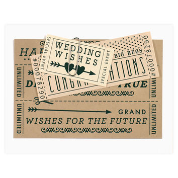 Wedding Tickets Card