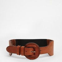Pieces Tecla Leather Waist Belt