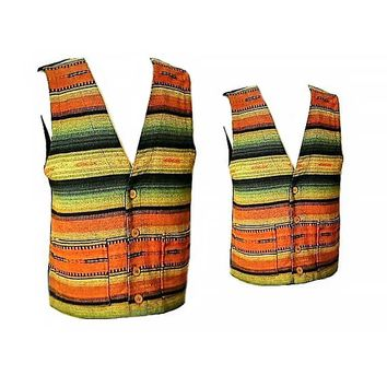 Men's Vest- Vests, Hippie Vest, Bohemian, Tribal, Ethnic, Indian, Boho, Casual, Vintage