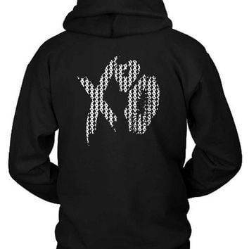 ESBH9S The Weeknd Xo Kisses Pattern Hoodie Two Sided