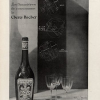 Vintage French Ad - Cherry Rocher 1930 Art Deco