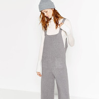 CROPPED DUNGAREES - JUMPSUITS-WOMAN | ZARA United States