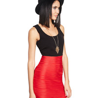 Red Hot Wavy Bodycon Dress | Wet Seal