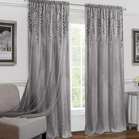 Ben&Jonah Collection Willow Rod Pocket Window Curtain Panel - 42x84 - Grey