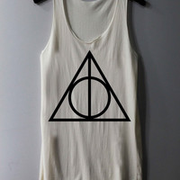 Deathly Hallows Shirt Harry Potter Shirts Tank Top Tunic TShirt T Shirt Singlet - Size S M L