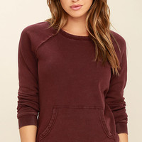 RVCA Rendered Plum Purple Sweater