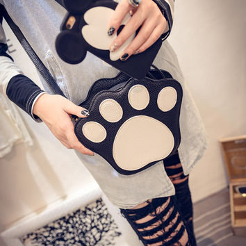 Strong Character Animal Cartoons Lovely Patchwork Bags Shoulder Bags [6582661447]