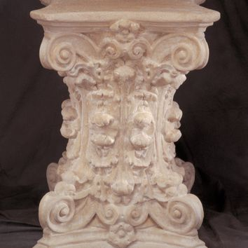 Corinthian Column Classical Dining Table Base 29H