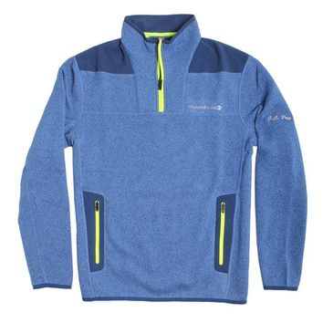 Custom Performance Sweater Fleece Shep Shirt in Moonshine by Vineyard Vines