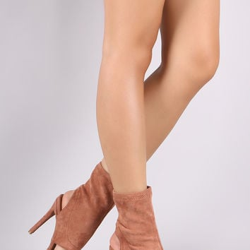 Suede Pointy Toe Cutout Booties | UrbanOG