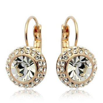 2016 Fashion Brincos Austrian Rhinestone Crystal Earrings Women from india bohemian Jewelry