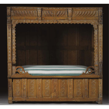 A panelled tester bed, Netherlandish, late 17th century | lot | Sotheby's