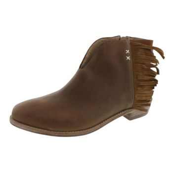 Koolaburra Womens Dallas Leather Fringe Ankle Boots