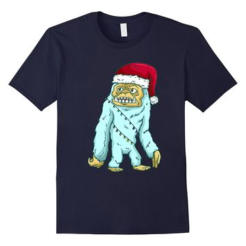 Bigfoot Christmas Shirt - Sasquatch Snowman T-Shirt