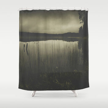 Dead fish dont swim Shower Curtain by HappyMelvin