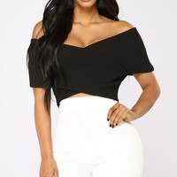 So Empowered Off Shoulder Top - Black