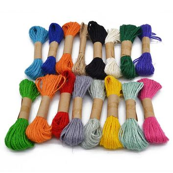 10m/lot DIY Twisted Craft Favor Gift Wrapping Twine Hemp Rope Thread Wedding Event  Invitation Flower Gift Packaging Supplies