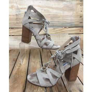 Steve Madden Lace up Heel Sandal Size 7 (preloved)