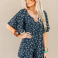 Petaled and Laced Romper
