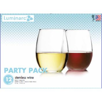 Luminarc Stemless Wine Glasses, Set of 12 - Walmart.com