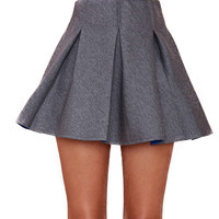 High Waist A-Line Mini Skater Skirt