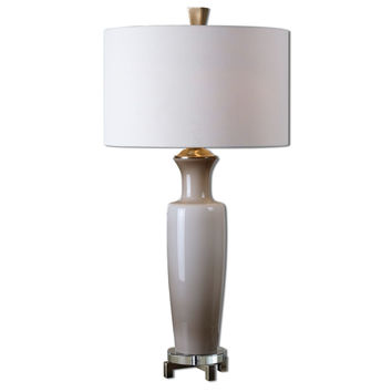 Uttermost Consuela Taupe Gray Glass Table Lamp - 27468-1