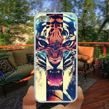 Colorful toger cross  iphone 4/4s case iphone 5/5s/5c case samsung galaxy s3/s4 case galaxy S5 case Waterproof gift case 474