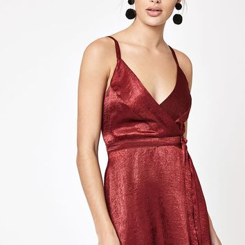 Kendall and Kylie Satin Wrap Dress at PacSun.com