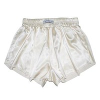 Vintage White High Waist Satin Shorts