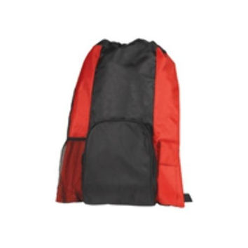 "19"" Islander Drawstring Tote/Backpack In One - Red"