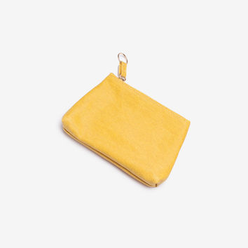 Yellow Small Gusset Pouch