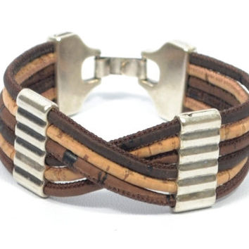 Cork Bracelet with Zamak * Bracelet in Cork * Cork Jewelry * bracelet for mom * gifts for women * women's bracelet