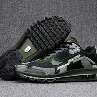 Durable Nike Air Max 2017. 8 KPU Camouflage Army Green Sneakers Men's Running Shoes