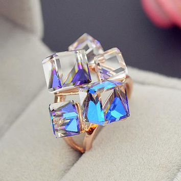 Rose Gold Plated Geometric Fashion Ring