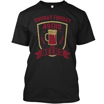 Sunday Funday Football and Beers Tee SF
