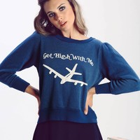 Get High With Me Couch Princess Sweater