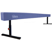 8ft 12in-18in Blue Adjustable Balance Beam for Gymnastics by Nimble Sports
