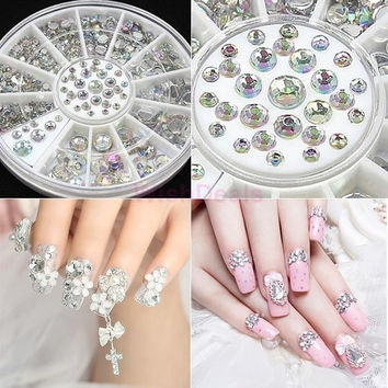 Nail Art Decorations Rhinestone 300PCS Crystal in 4 Different Shapes And Sizes, Decoration For Nails Women Beauty19818|42101 = 5658932545