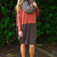 Color Block Knitted Dress