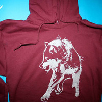 wolf clothing native american maroon sweatshirt wolf by 1AEON