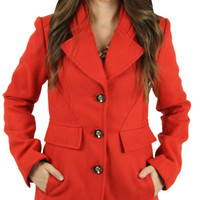Jessica Simpson Women's Peacoat Wool Coat Jacket