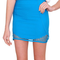 Catch Me Mini Skirt - Blue