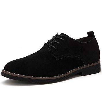 Suede Leather Casual Oxfords