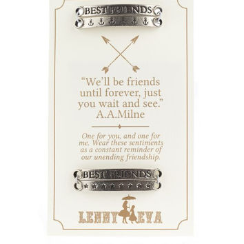 "Lenny and Eva ""Best Friends"" Sentiment Bar Set"