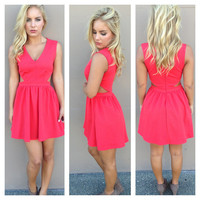 Coral Open Side Babydoll Dress