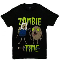 Zombie Time - Adventure Time T-shirt: Adult, Black, XX-Large/Adult