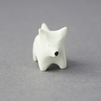 polymer clay westie figurine west highland terrier white terrier dog totem polymer clay miniature dog