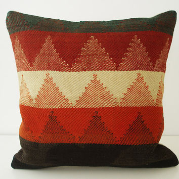 Sukan / SOFT Hand Woven Turkish Kilim Pillow Cover by sukan